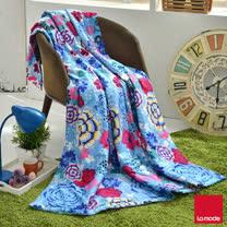 La mode寢飾花雨紛飛超多彩環保活性印染精梳棉單人涼被(150x195cm)