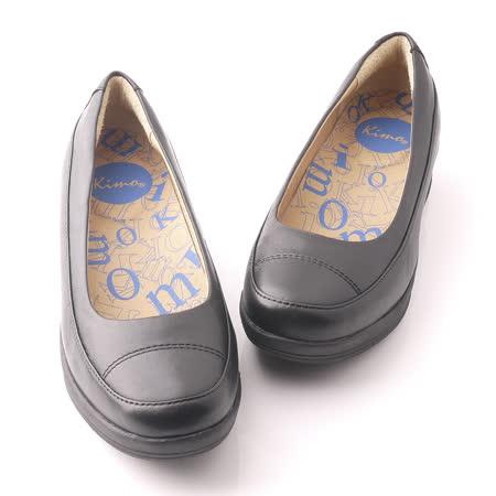 【Kimo德國品牌手工氣墊鞋】城市風霧面好穿好走厚底簡約設計-霧面黑(K14SF064063A)