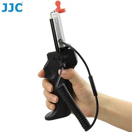 JJC槍把握把手柄快門線遙控器,支援Apple蘋果原廠RM-VPR1快門線功能HR+Cable-IOS+手機夾(可換線設計給不同品牌DC相機)