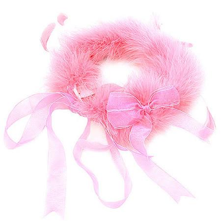 維多利亞的秘密 羽毛綁帶配件-粉紅色