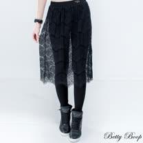 【Betty Boop貝蒂】假兩件蕾絲彈性內搭褲裙(共二色)