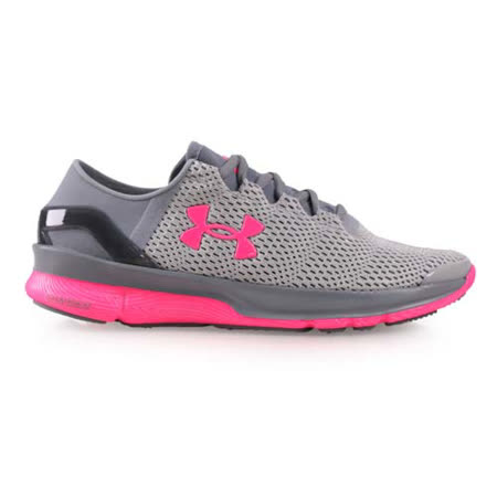 (女) UNDER ARMOUR UA SPEEDFORM APOLLO2慢跑鞋 灰桃紅