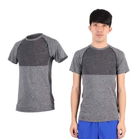 (男) NEWBALANCE 短袖T恤-慢跑 路跑 休閒 運動 上衣 NB 深灰