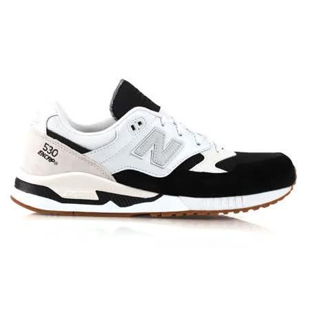 (男) NEWBALANCE 復古休閒鞋530系列- NB 紐巴倫 黑白