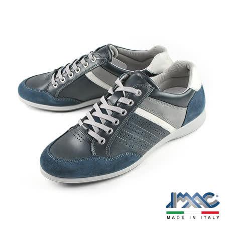 【IMAC】復古時尚氣墊休閒鞋 藍色(50940-BLU)