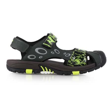 (男) DIADORA 護趾運動涼鞋-拖鞋 游泳 休閒 排水 墨綠螢光綠