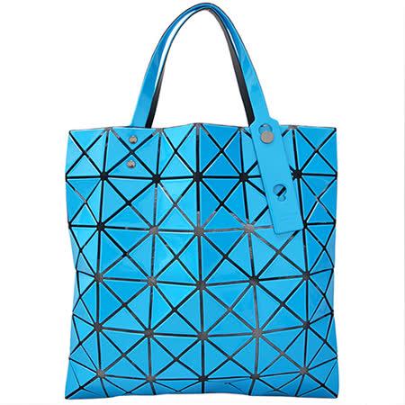 ISSEY MIYAKE BAOBAO 6*6水藍色亮面菱格包