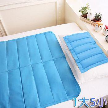 COOL COLD 專利認證-急冷激涼冷凝墊 1床5枕