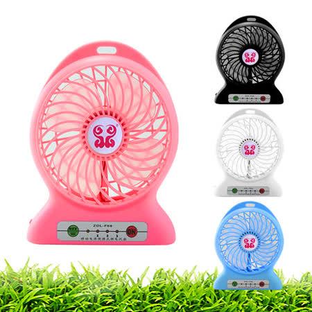 【4入組】龍捲風USB涼風扇 三段式風力調節