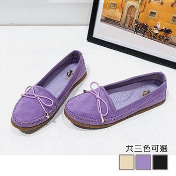 ALicE (預購)Y1094 甜美蝴蝶節簡約平底鞋 (紫/黑/杏)