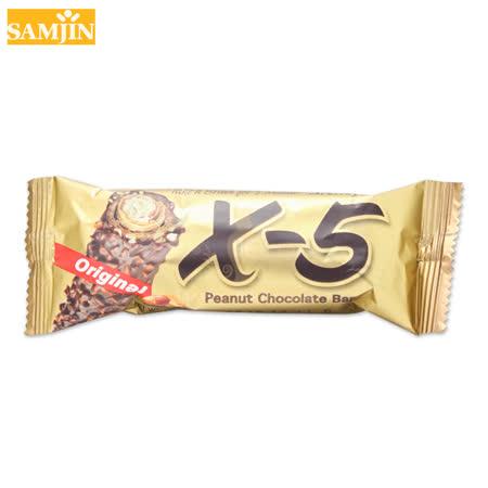 韓國 Samjin X-5 脆心花生巧克力捲心酥 單支 36g 經典熱銷