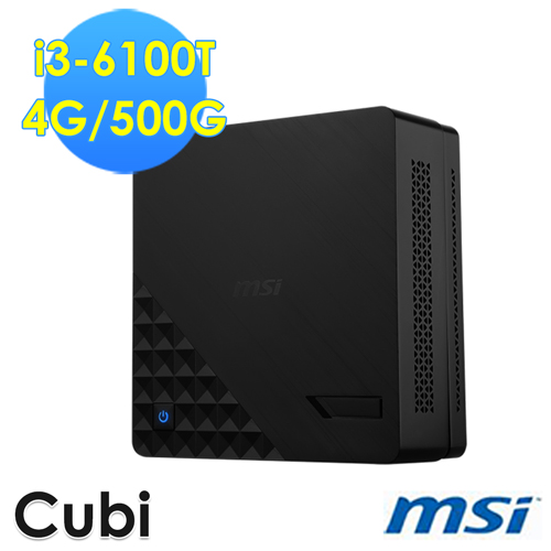 msi微星 Cubi 2 Plus~005XTW i3~6100T 雙核迷你電腦