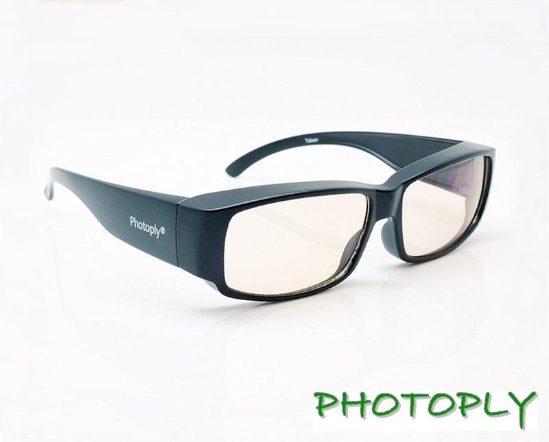 台灣PHOTOPLY抗藍光眼鏡(吸收40%藍光100%快樂 購物UV)黑色鏡框