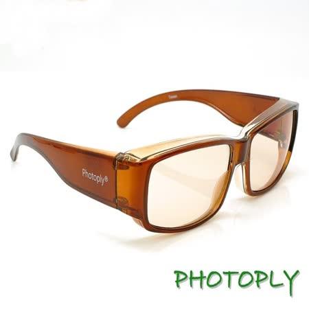台灣PHOTOPLY抗藍光眼鏡(吸收40%藍光100%UV)玳瑁色鏡框