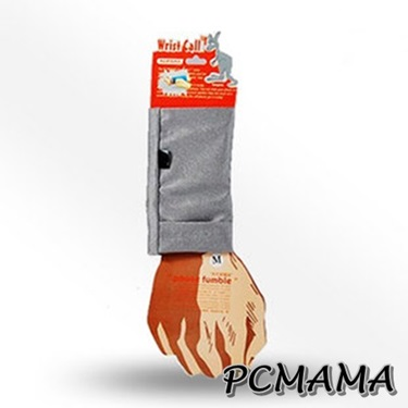 PCMAMA運動手太平洋 百貨 忠孝 館機袋運動手腕套(黑色+銀色)
