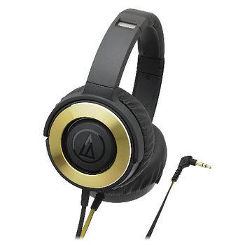 鐵三角SOLIDBASS重低音便攜型耳罩式耳機ATH-WS550黑金