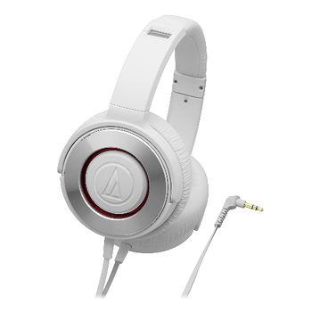 鐵三角SOLID BASS重低音便攜型耳罩式耳機ATH-WS550白