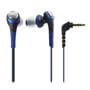 鐵三角SOLID BASS重低音密閉型耳塞式耳機ATH-CKS550藍