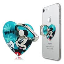 迪士尼授權正版 心型系列手機防摔造型指環扣 手機支架(米奇)