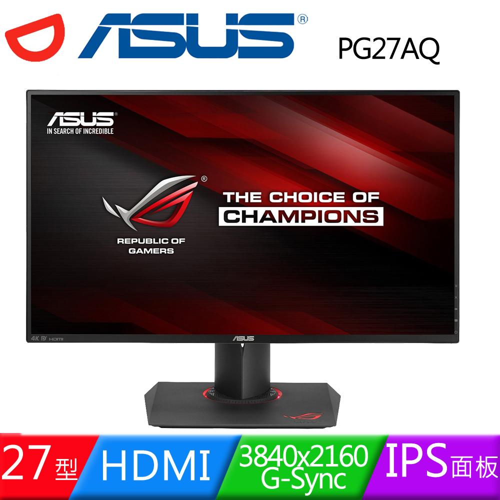 ASUS 華碩 PG27AQ 27型4K IPS技術100%sRGB色域NVIDIA G-SYNC電競液晶螢幕