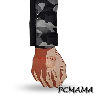 PCMAMA運動手機袋運動手腕套sogo 忠孝(黑+特戰迷彩)