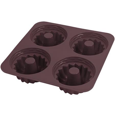 《GP&me》Dolce四格矽膠甜甜圈烤盤(咖7.5cm)