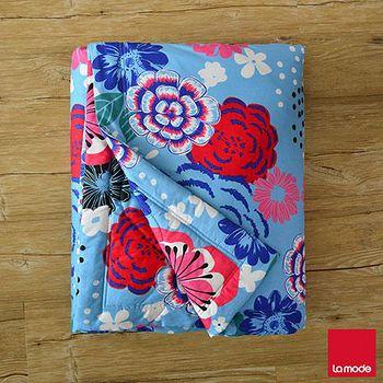 La mode寢飾 花雨紛飛超多彩環保活性印染精梳棉單人涼被 150x195cm