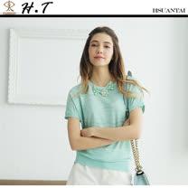 玄太-優雅金蔥連身袖針織上衣(淺綠)
