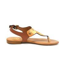 Alviero Martini 義大利地圖包 經典平底涼鞋-地圖黃