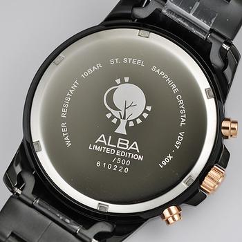 ALBA 劉以豪設計限量城市計時腕錶-黑/45mm VD57-X056K(AM3273X1)