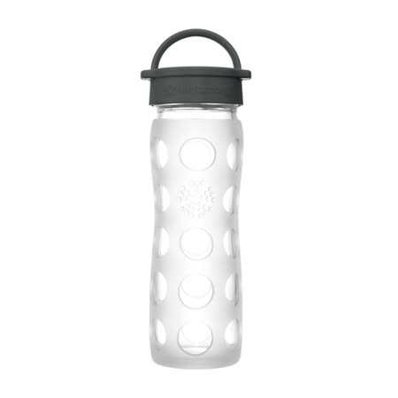 美國唯樂Lifefactory 繽紛彩色玻璃水瓶-平口450ml 透明 LF220100