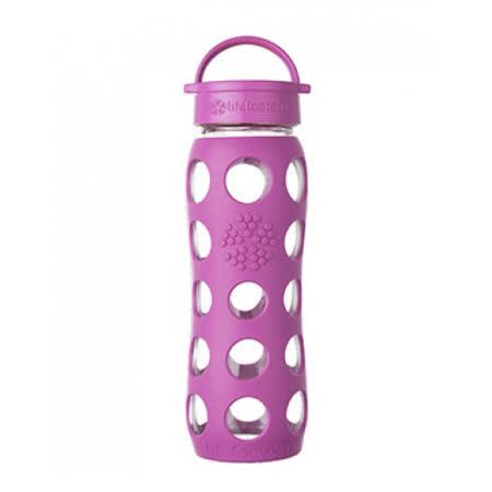 美國唯樂Lifefactory 繽紛彩色玻璃水瓶-平口650ml 莓紫 LF230201