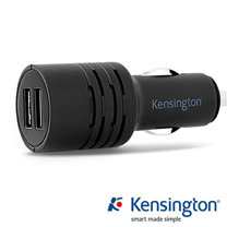 Kensington PowerBolt™ 4.2 A with PowerWhiz™ 智慧雙槽車用電源供應器(雙USB充電器)