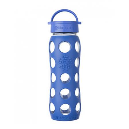 美國唯樂Lifefactory 繽紛彩色玻璃水瓶-平口650ml 寶藍 LF230200