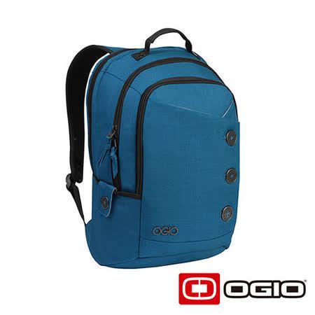 OGIO SOHO 17吋 鈕扣造型電腦後背包 (藍)