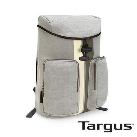 Targus Geo 復古休閒 15.6 吋掀蓋抽繩後背包 (象牙白)