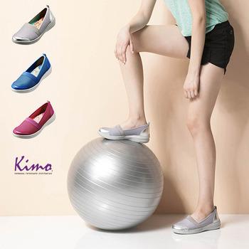 【Kimo德國品牌手工氣墊鞋】止滑吸震混搭質感休閒鞋-亮麗桃紅(K16SF071027A)