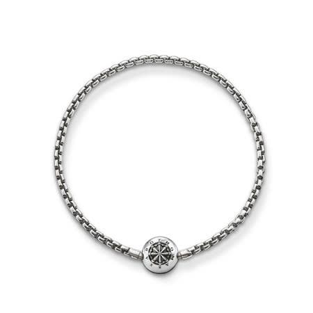 THOMAS SABO Karma 時尚鍍黑純銀手鍊-22cm KA0002-001-12-L22