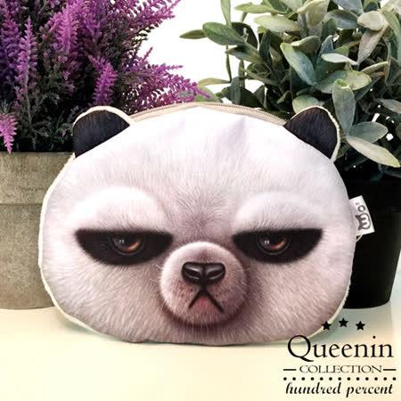 DF Queenin日韓 - 動物城市頑皮款零錢包-臭臉熊貓