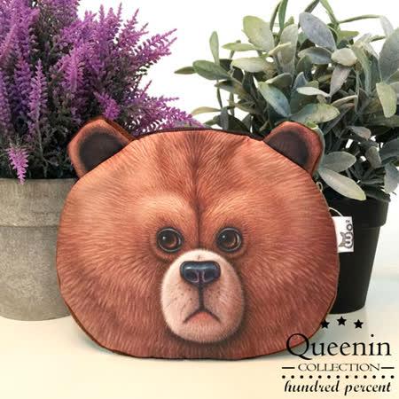 DF Queenin日韓 - 動物城市頑皮款零錢包-裝傻棕熊