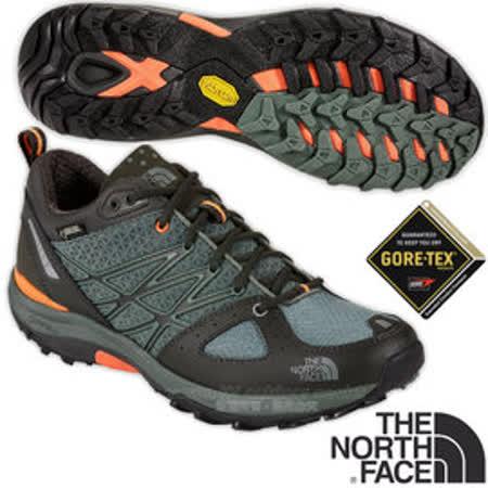 【美國 The North Face】ULTRA FASTPACK 男款Gore-Tex防水透氣低筒輕量登山鞋.登山鞋.越野鞋.健行鞋_ CCE3 月桂冠綠/螢光橘 V