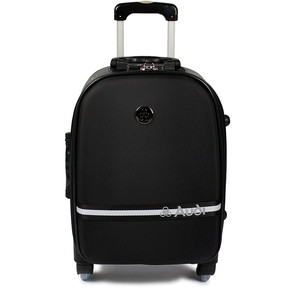【愛 買 線上 dmAudi 奧迪】18吋星點系列7輪360度~Audi登機箱行李箱M-7618-黑