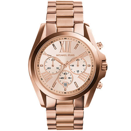 Michael Kors MK 羅馬假期三眼計時腕錶-玫瑰金/40mm MK5503
