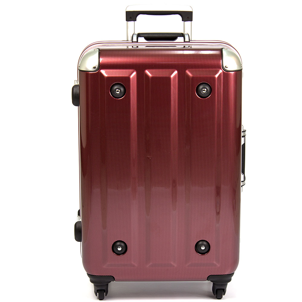 MOM 日本品牌 - 26吋-第二代旗艦正式版 PC鋁框行李箱(RU-300桃園 百貨 公司8-26-酒紅)