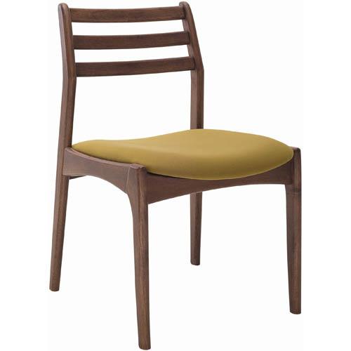 蘿芬妮胡桃色餐椅^(綠色布坐墊^)