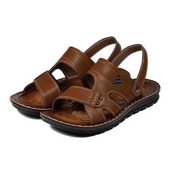 (男) SARTORI 民族風鉚釘休閒涼鞋 咖 鞋全家福