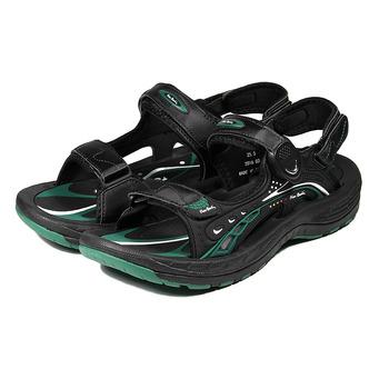 (男) 皮爾卡登 QQ彈力排水運動涼鞋 黑綠 鞋全家福