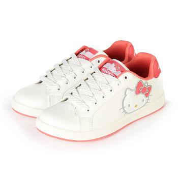 (女) HELLO KITTY 造型復古球鞋 白橘 鞋全家福