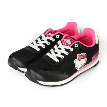 (女) HELLO KITTY 造型復古慢跑鞋 黑 鞋全家福