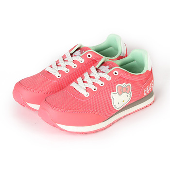 (女) HELLO KITTY 造型復古慢跑鞋 桃 鞋全家福
